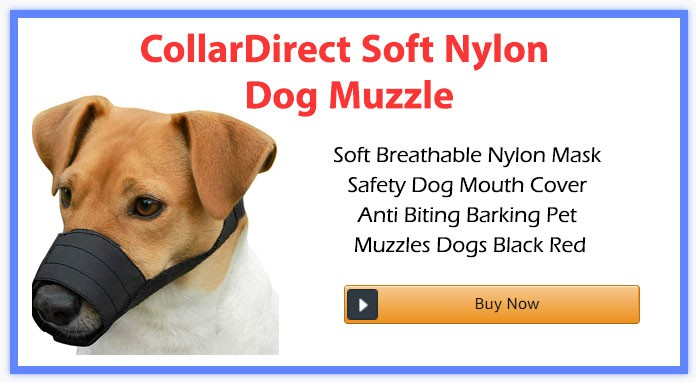 CollarDirect Soft Nylon Dog Muzzle