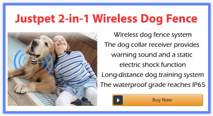 Justpet 2-in-1 Wireless Dog Fence